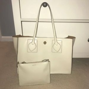 Anne Klein tote and wristlet